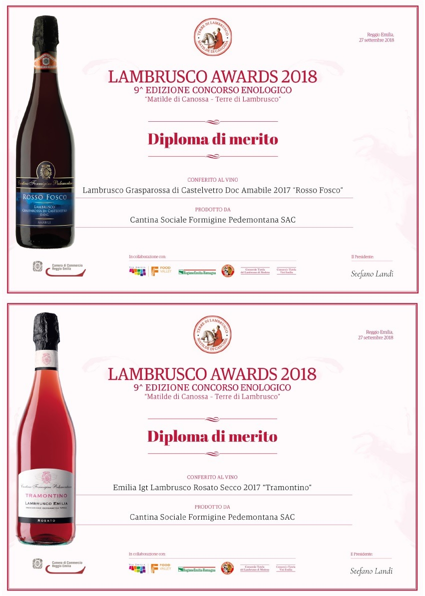 LAMBRUSCO AWARDS 2018